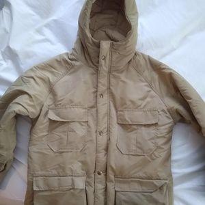 LL Bean warm waterproof khaki utility jacket